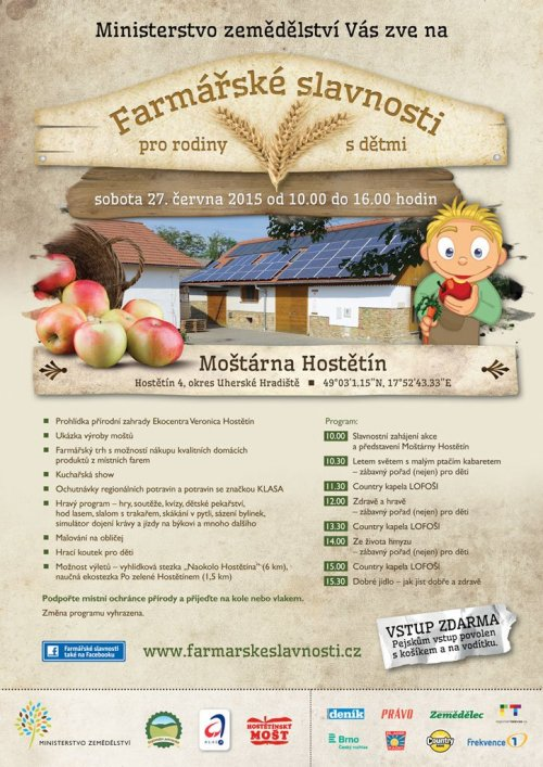 Farmářské slavnosti pro rodiny s dětmi